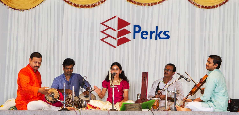 Sooryagayathri sings on Founder's day at Perks