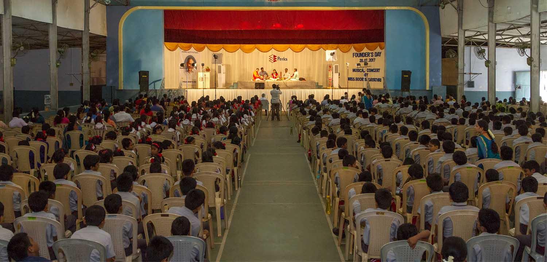 Students listening Soorya Gayathri