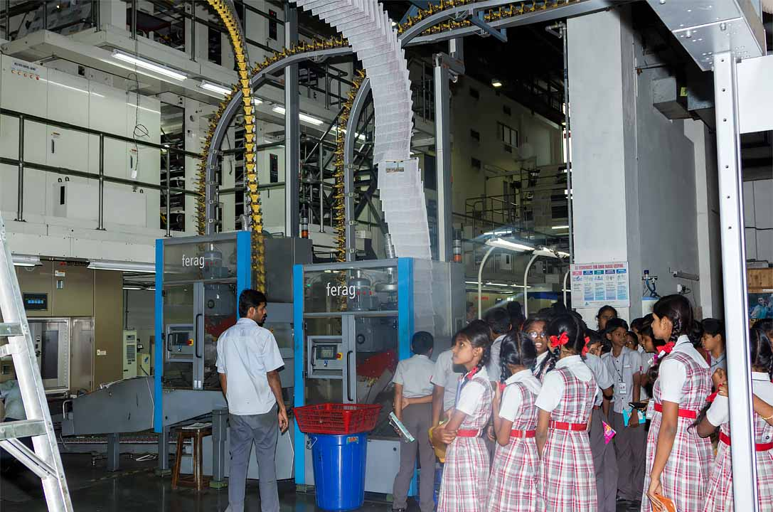 Perks Students visit The Hindu News paper press in coimbatore