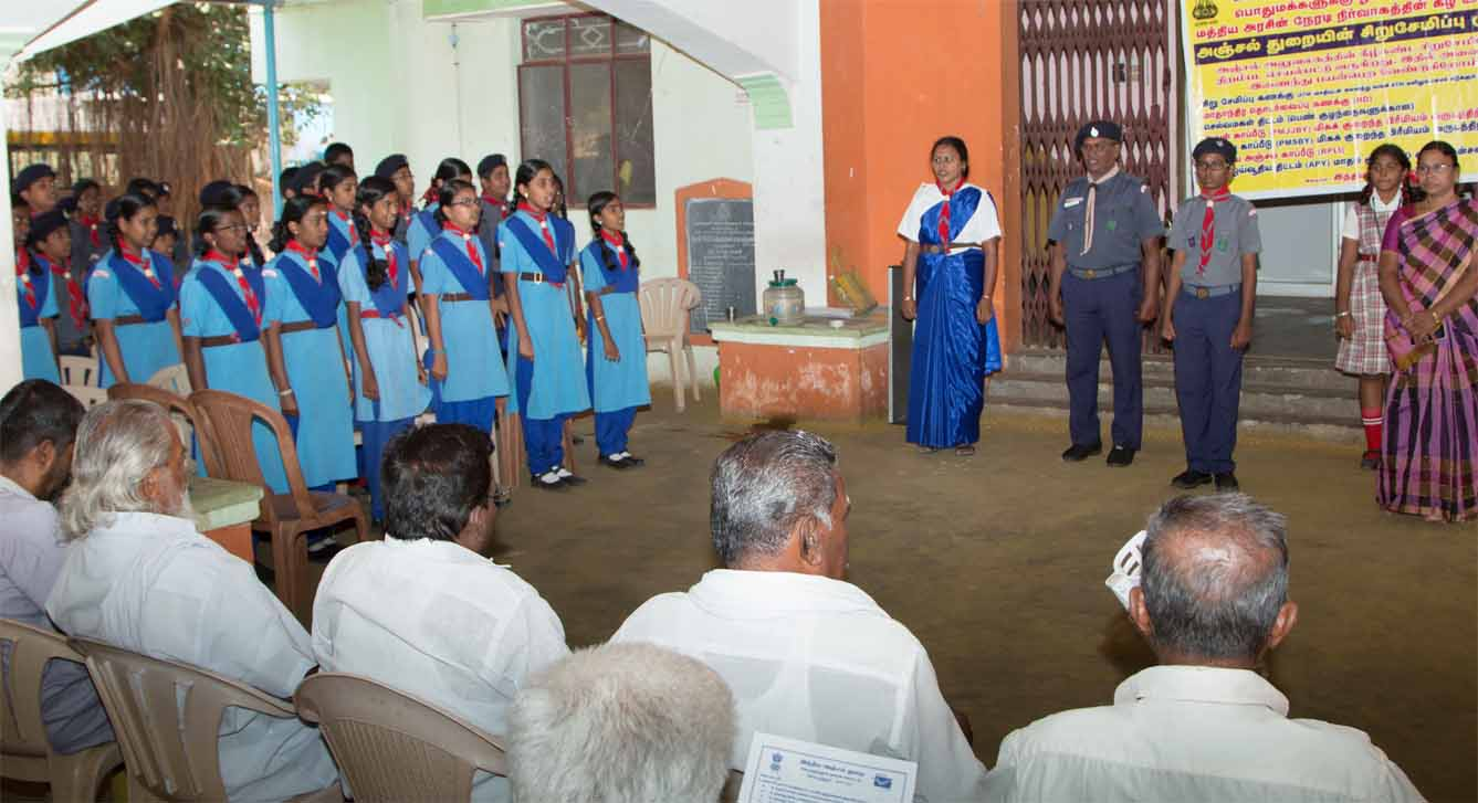 Indian Postal department Saving Scheme awareness program by Scouts of Perks